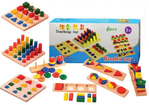 8 in 1 Wooden Fraction Kit