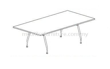 MY-ARC RECTANGULAR MEETING TABLE WITH A LEG (RM 613.00/UNIT)