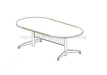 MY-TOC OVAL MEETING TABLE WITH TAXUS LEG (RM 955.00/UNIT)