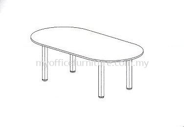 MY-UOC OVAL MEETING TABLE WITH U-LEG (RM 668.00/UNIT)