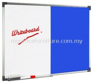 DUAL BOARD W/O STAND ~MAGNETIC WHITEBOARD AND FOAM BOARD (RM 48.00/UNIT)