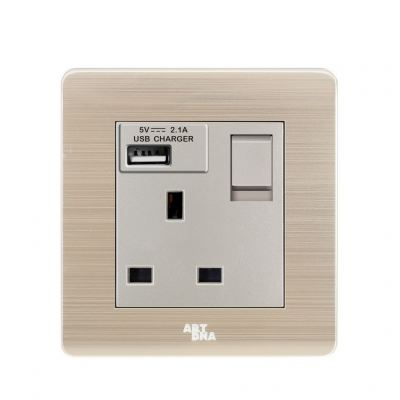 13A SOCKET C/W 2.1A USB CHARGING PORT