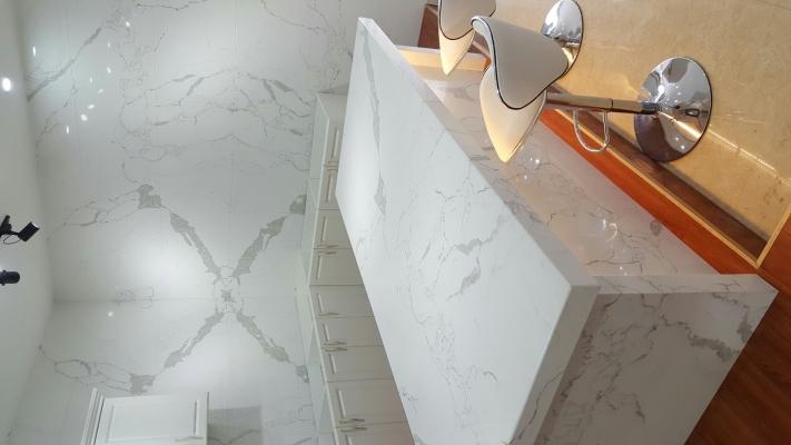 Quartz Stone Kichen Cabinet Table Top Sample