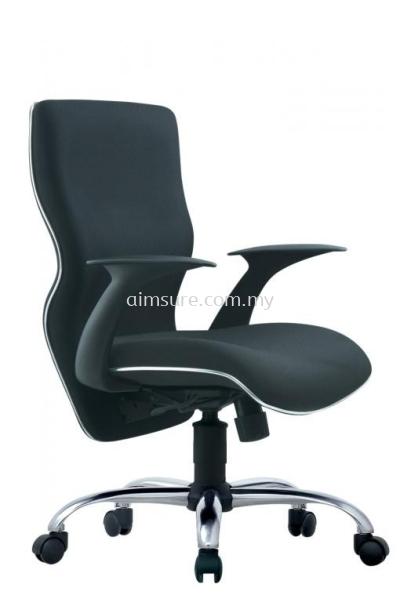 Presidential medium back chair with chrome line and base AIM662A-ELIXIR
