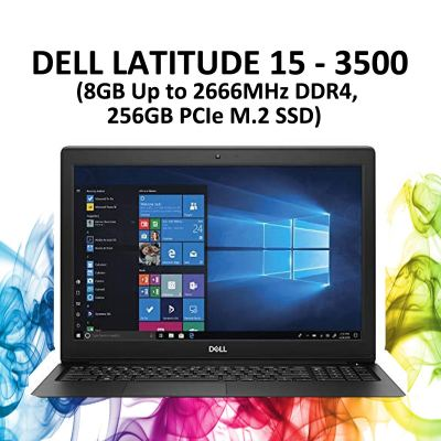 Dell Latitude 15 - 3500 (8GB Up to 2666MHz DDR4, 256GB PCIe M.2 SSD)
