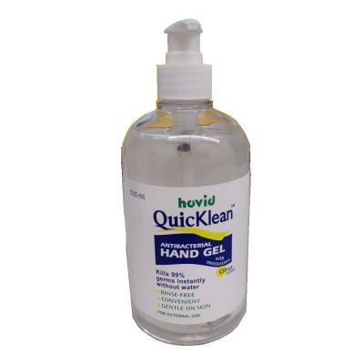 HOVID QuicKlean ANTIBACTERIAL HAND GEL With Moisturizer 500ML