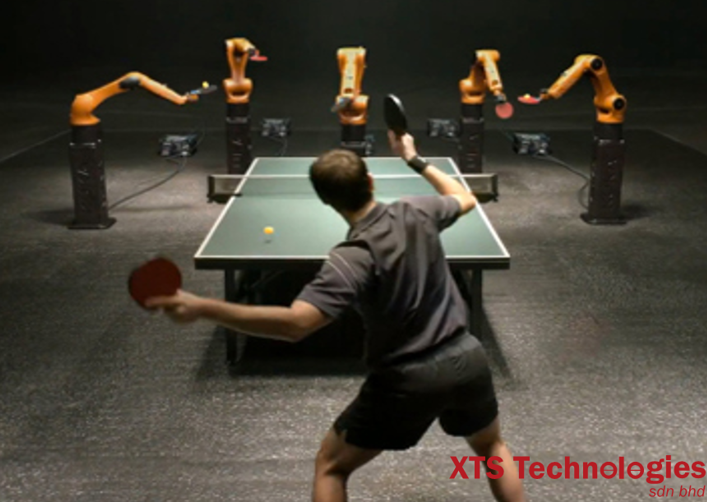 The unbelievably fast KUKA robot faces off against one of the best table tennis players of all time.