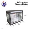 4ft Curve Glass Warming Display Warming Stall / Heat Lamp Kitchen Equipment