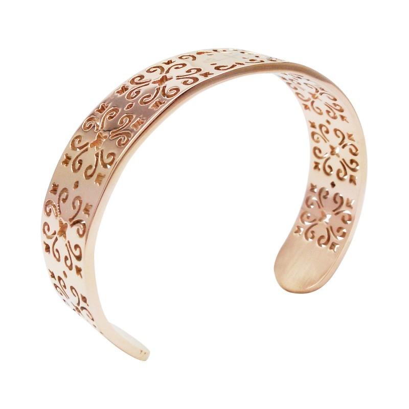 TRELLIS CUFF-ROSE GOLD BRACELETS (SS) 个人磁场与密码 ~ Shuzi Cuff Bracelets