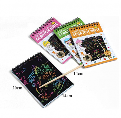 Rainbow Scratch & Sketch Note Pads