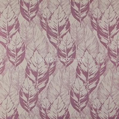 Premium European Polyester Viscose & Cotton Leaves Curtain Arteko Fenton 19 Fuchsia