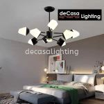 SWITCHABLE 3C- LED 8ARMS CEILING LIGHT