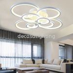 8 Circle Rings Modern 3C Switchable led ceiling Lights