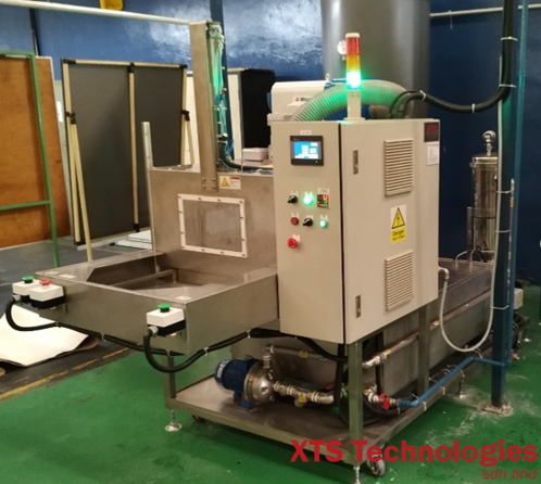XTS's Compact Hot Water Spray Process System