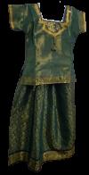 READY MADE PADDU PAVADAI SADDE WITH SILK LONG SKIRT & BLOUSE FOR SMALL KIDS /GIRLS Dresses
