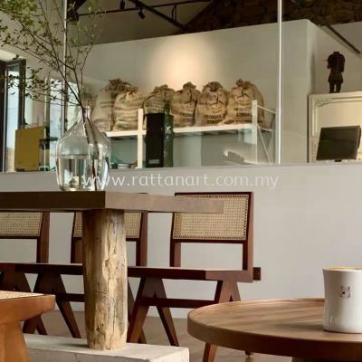 WOODEN DINING CHAIR CHANDIGARH ARMLESS (WITH RATTAN NETTING)