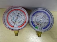 ROTHENBERGER HIGH & LOW PRESSURE GAUGE 80MM W/O RUBBER PROTECTOR (R22, R134A, R404A & R407C)
