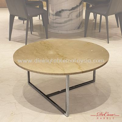Royal Botticino (non-coat) | Round Marble Coffee Table | Cash & Carry | RM899