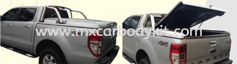 FORD RANGER 2012 RS-RACING FLAT COVER FOR ORIGINAL STAINLESS STEEL BAR RANGER T6 FORD