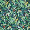 Premium European 100% Cotton Curtain 3 Colour Tropico Zamiiflora 01 Navy Leaves Curtain Curtain