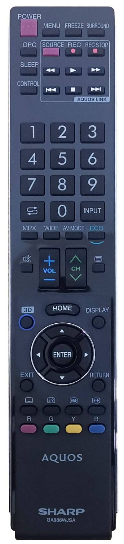 GA986WJSA SHARP SMART LED TV REMOTE CONTROL