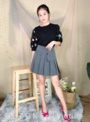 70186 Embroiderd Puff Sleeved Top
