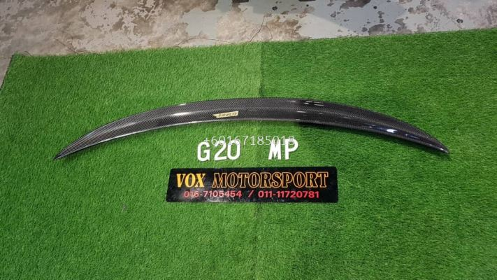bmw 3 series g20 trunk spoiler mp style add on upgrade performance look carbon fiber material brand new set