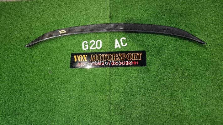 bmw 3 series g20 boot lip spoiler ac style add on upgrade performance look carbon fiber material brand new set