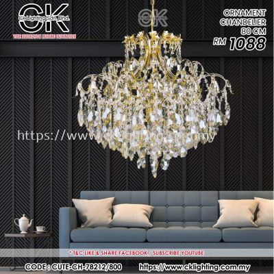 CK LIGHTING ORNAMENT CHANDELIER 80CM (CUTE-CH-78212/800)