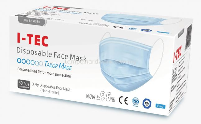 ITEC 3 Ply Disposable Face Mask