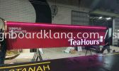 klang Group Teahours 3D led channel box up lettering frontlit signage at setia alam shah alam and klang 3D LED SIGNAGE