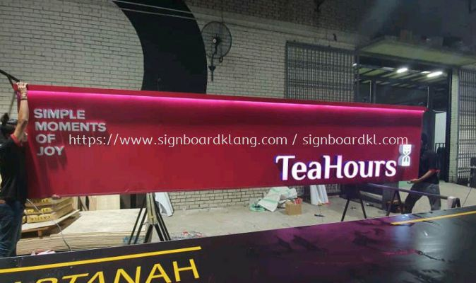 klang Group Teahours 3D led channel box up lettering frontlit signage at setia alam shah alam and klang