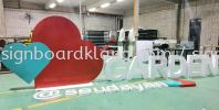 Garden sendayan Aluminum Giant big 3D lettering stand signage at seremban ALUMINIUM BIG 3D BOX UP LETTERING SIGNAGE