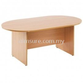Full colour Oval meeting table
