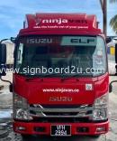 NINJA VAN Malaysia Box Truck Body Sticker at Shah Alam,Selangor