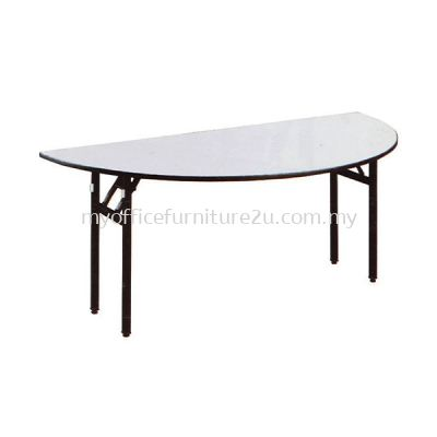 BQH1200 Foldable Half Round Table 1200W x 600D x 760H mm