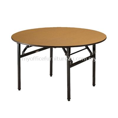 Round Wooden Banquet Table