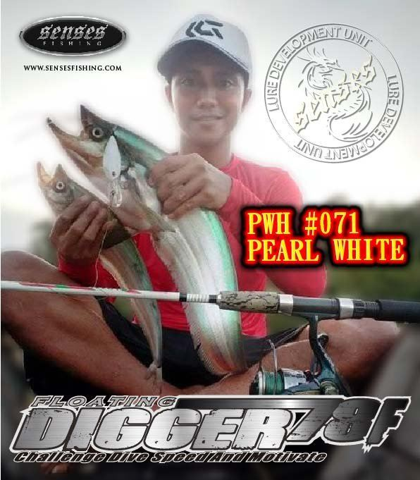 DIGGER 78MM FLOATING - PEARL WHITE - 21G