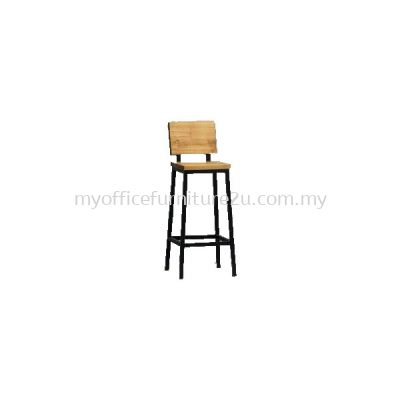ISBAR964 High Bar Stool Epoxy Leg (Wooden)
