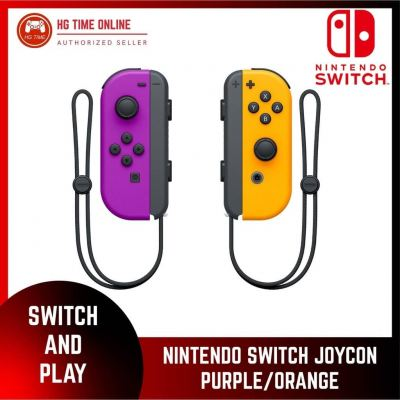 Nintendo Switch JOYCON - PURPLE / ORANGE