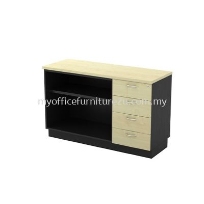 TYOP7124 Open Shelf + Fixed Pedestal 4D