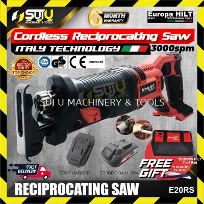 EUROPA HILT E20RS Cordless Reciprocating Saw + Battery + Charger