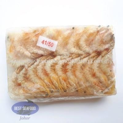 Sea White Prawn / Ã÷Ϻ / Udang Putih Laut (Size 41-50)(sold per pack)