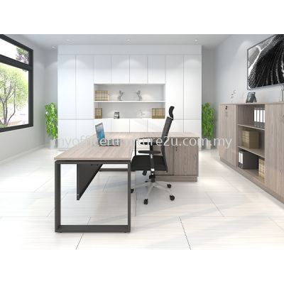 SQL1818- Director Table with Sliding Side Cabinet (Thuja Light)