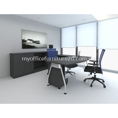 ALD1818- Director Table with Mobile Pedestal 2D1F (Solid Leg)