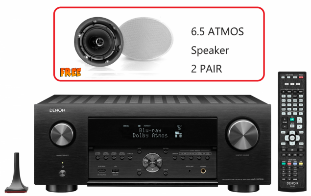 DENON AVR X4700 (2020 Model) 9.2 Ch. 8K AV receiver with 3D Audio, HEOS® Built-in and Voice Control