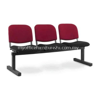 LC602A Link Chair Three Seater without Armrest Fabric