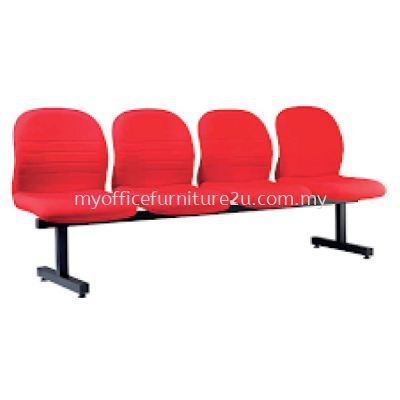 LC604A Link Chair Four Seater without Armrest Fabric