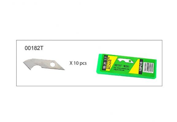 ~HOOK~ UTILITY KNIFE (10 PCS) - BLADE -00182T