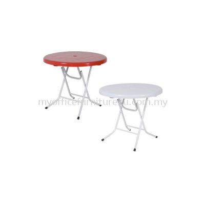 PTR Round Plastic Folding Table 1200DIA mm (White)